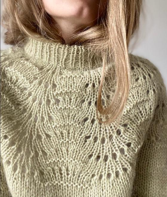 LeKnit Peacock Sweater - voksen PAPIRUDGAVE
